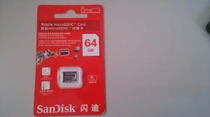 謎のSanDiskのSDカードパッケージの表